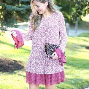 Tularosa Floral Long Sleeve Dress